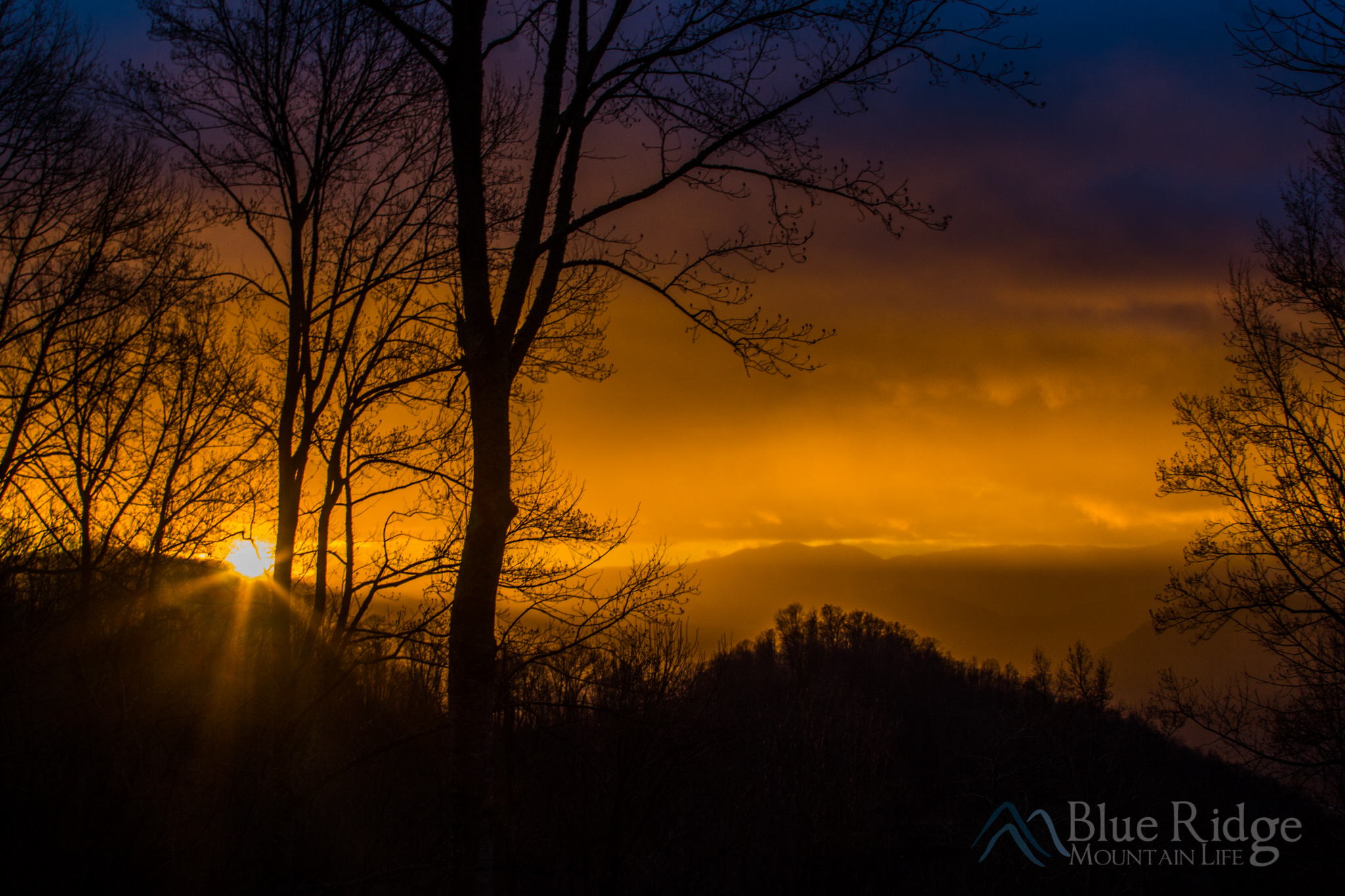 Winter Sunrise Maggie Valley NC